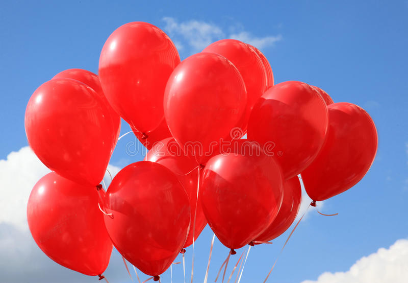 Ballons rouges image stock