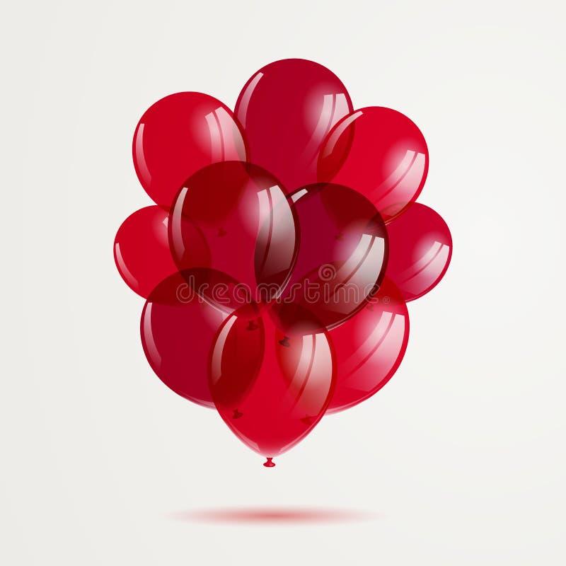 Ballons rouges illustration libre de droits
