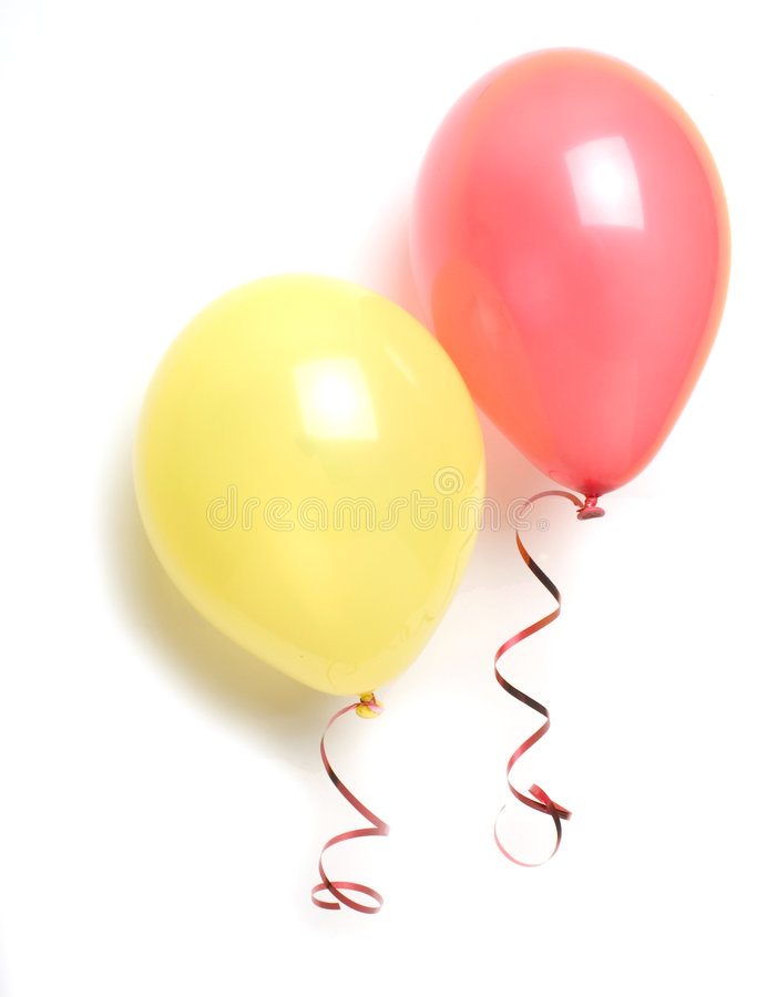 Ballons rouges et jaunes image libre de droits