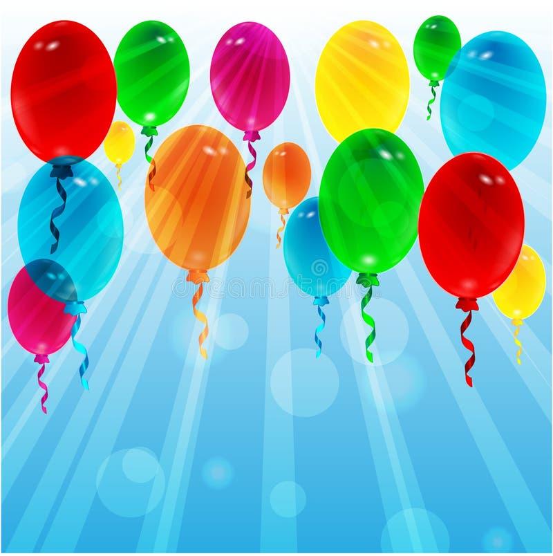 Ballons van verschillende kleur stock illustratie