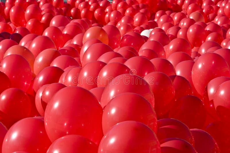 Ballons vermelhos fotografia de stock