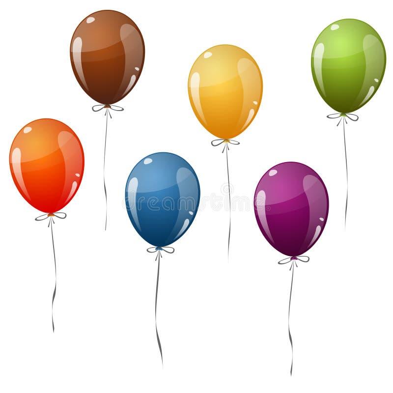 ballons volants colorés illustration de vecteur