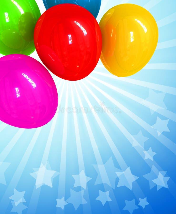 ballons wakacje gręplują white odizolowywającego royalty ilustracja