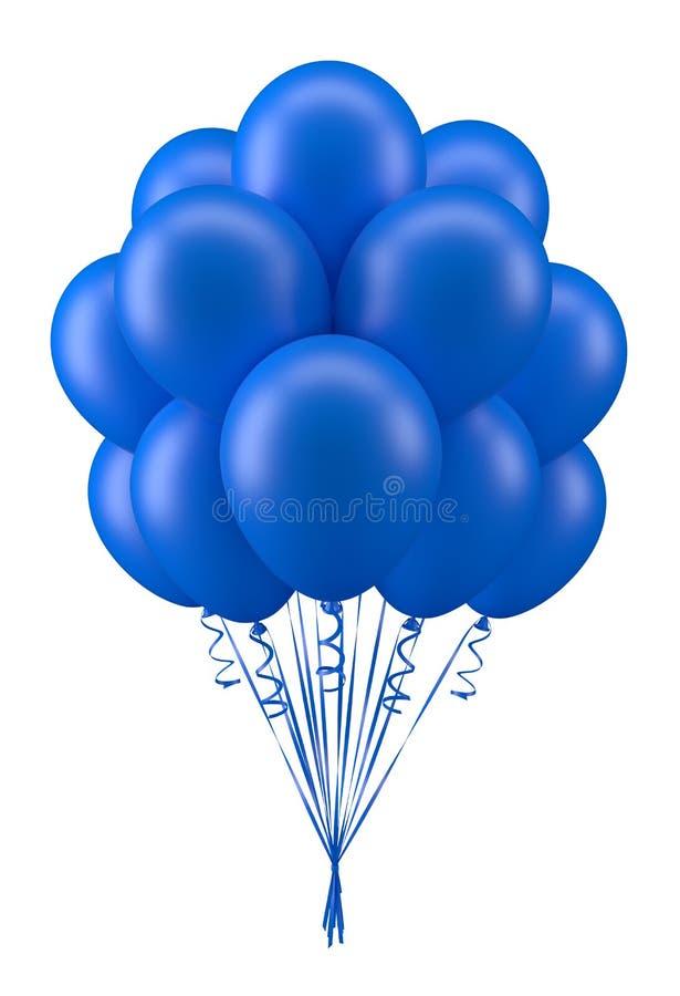Ballonsblauw stock illustratie