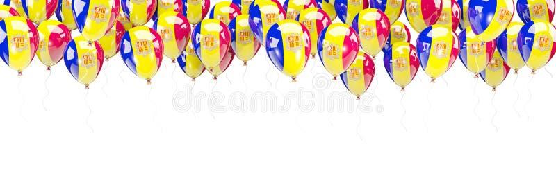 Ballonskader met vlag van Andorra royalty-vrije illustratie