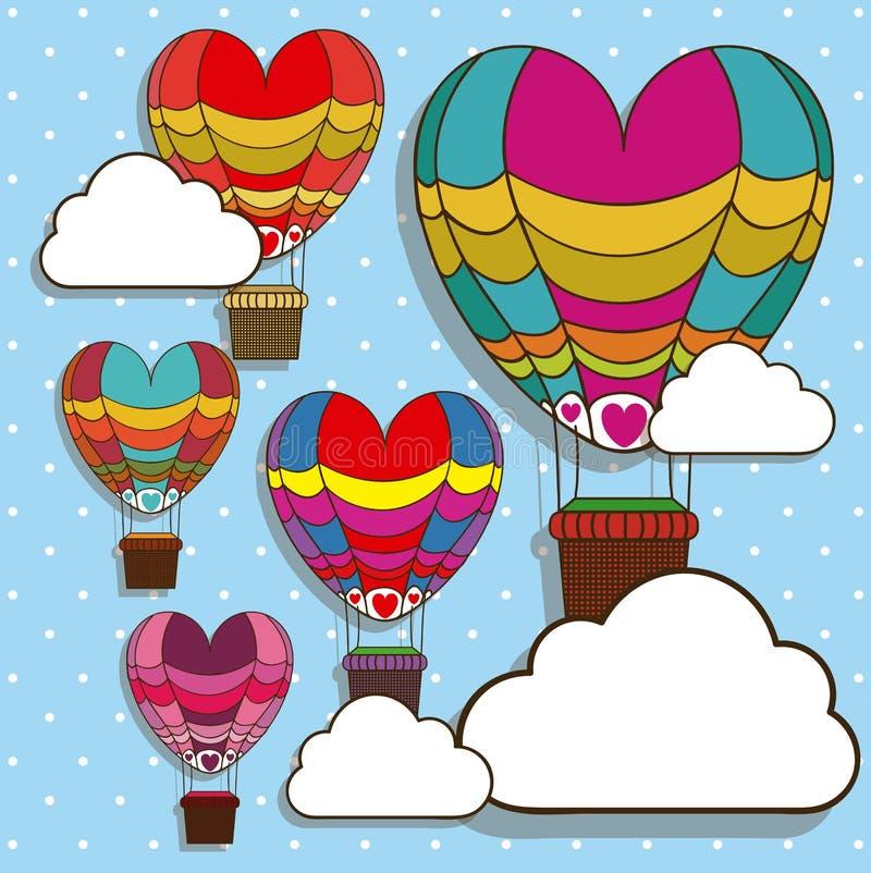 Ballonsontwerp royalty-vrije illustratie