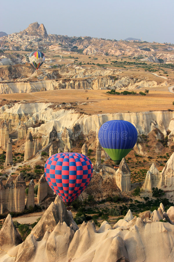 balloom gorącej cappadocia lotniczych nadmiernej jazda fotografia royalty free