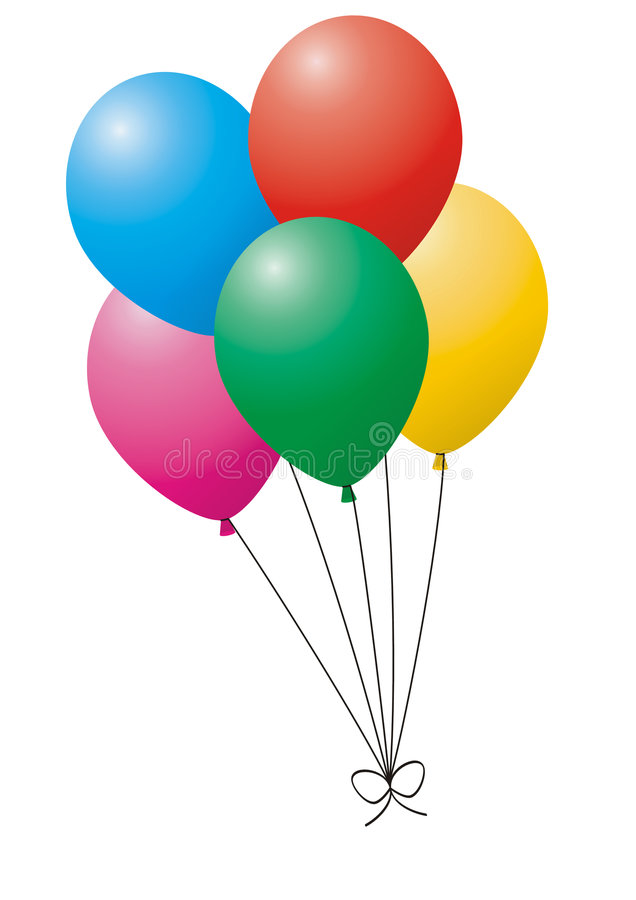Balloon stock illustration