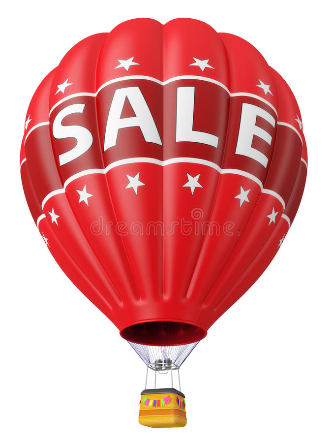 Balloon With Advertising Sale 3d Royalty Free Stock Photos