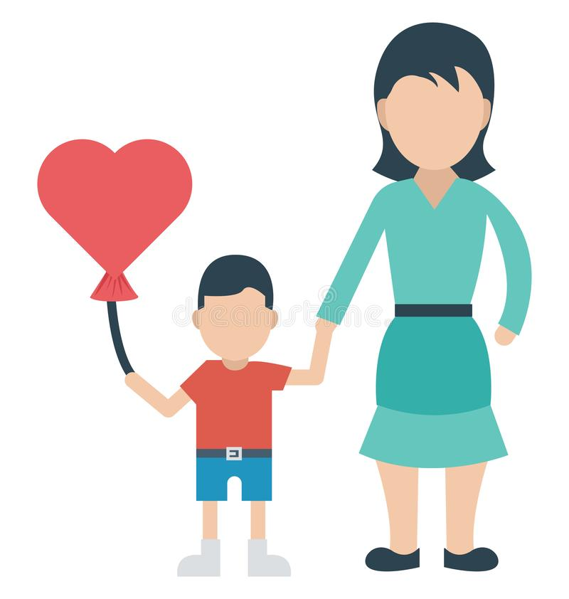 Balloon, Affectionate mother That can be easily edited in any size or modified. vector illustration