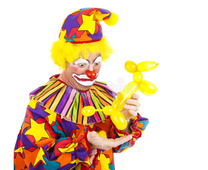 Balloon Animal Has Accident stock image