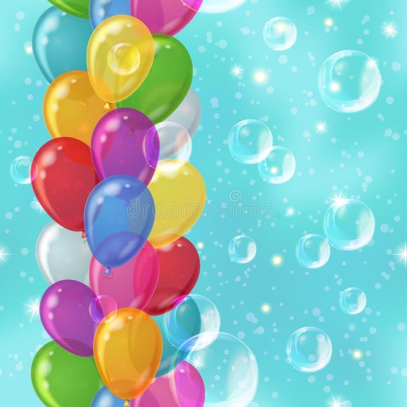Balloon background seamless vector illustration