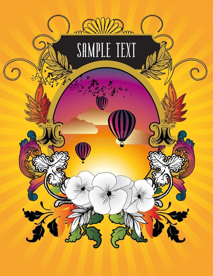 Download Balloon Banner Illustration Stock Vector - Illustration of sunset, colors: 14143559