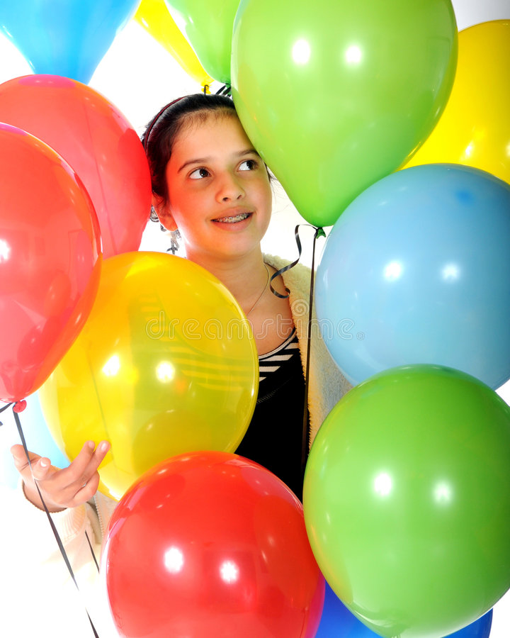 Download Balloon Beauty stock image. Image of girl, asian, lots - 7440319