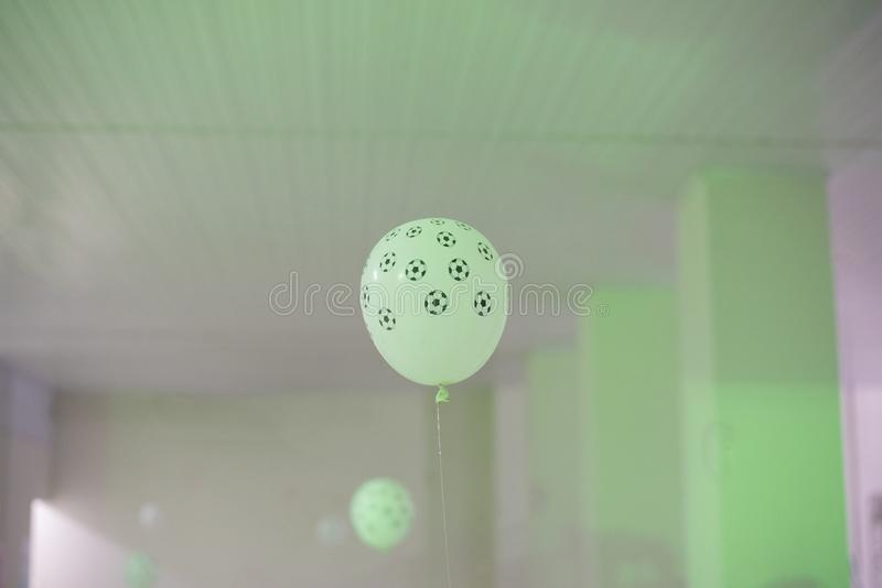 Balloon in birthday party hall stock images