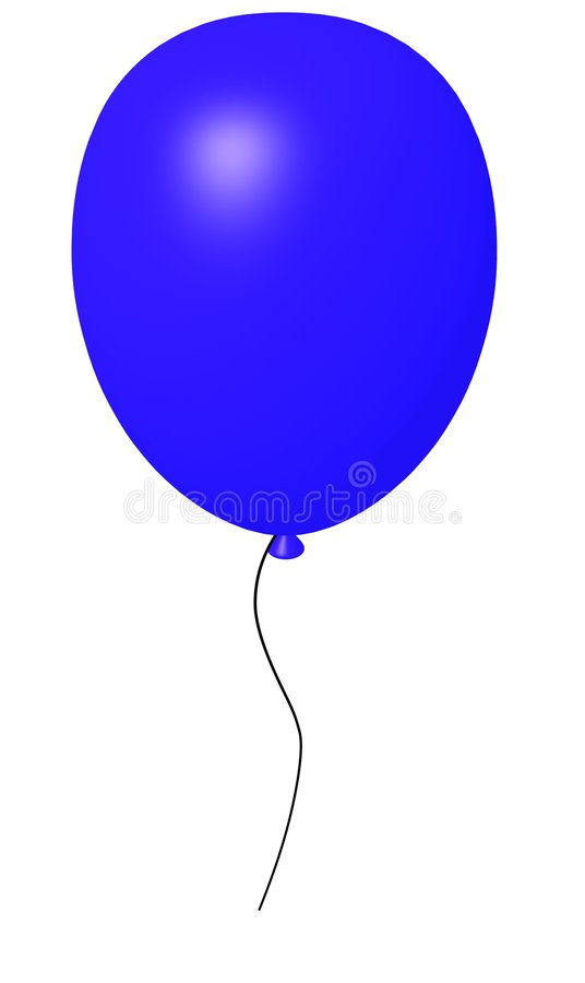Free Balloon Blue Royalty Free Stock Photos - 3809658