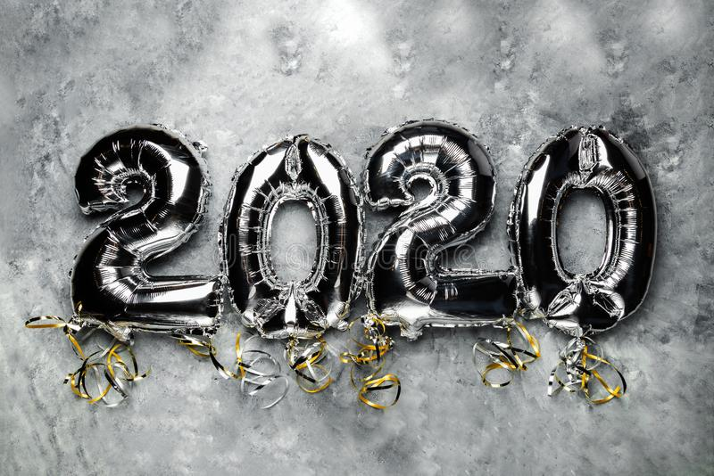 Balloon Bunting for celebration of New Year 2020 stock photography