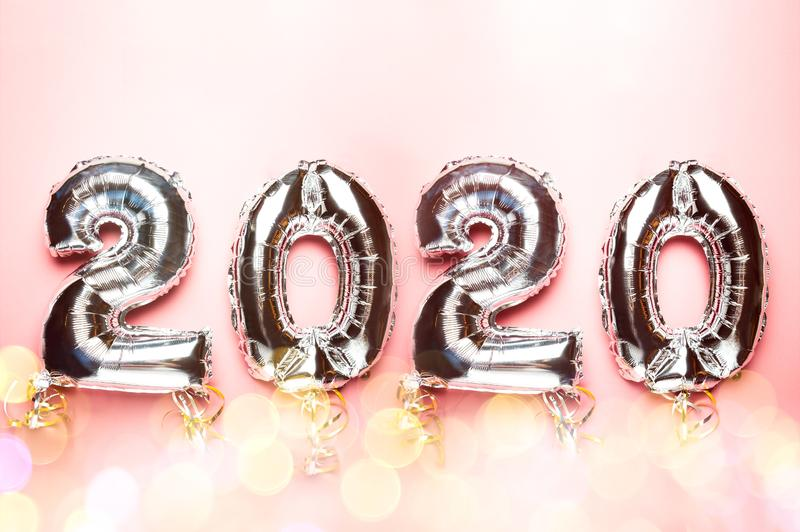 Balloon Bunting for celebration of New Year 2020 royalty free stock photo