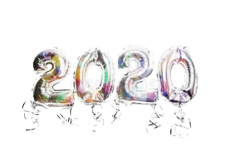 Balloon Bunting for celebration of New Year 2020 stock photos