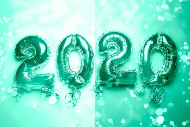 Balloon Bunting for celebration of New Year 2020 stock images