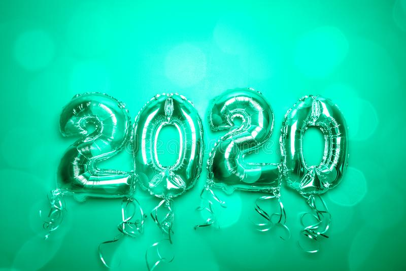 Balloon Bunting for celebration of New Year 2020 stock image