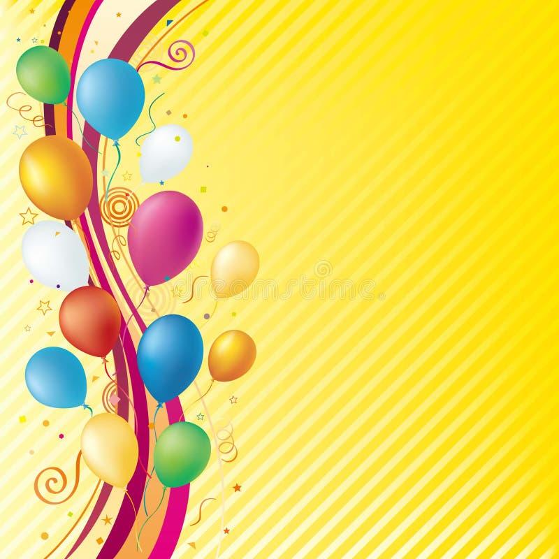 balloon and celebration background stock illustration