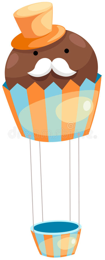 Download Balloon cupcake stock vector. Image of colored, bright - 24642942