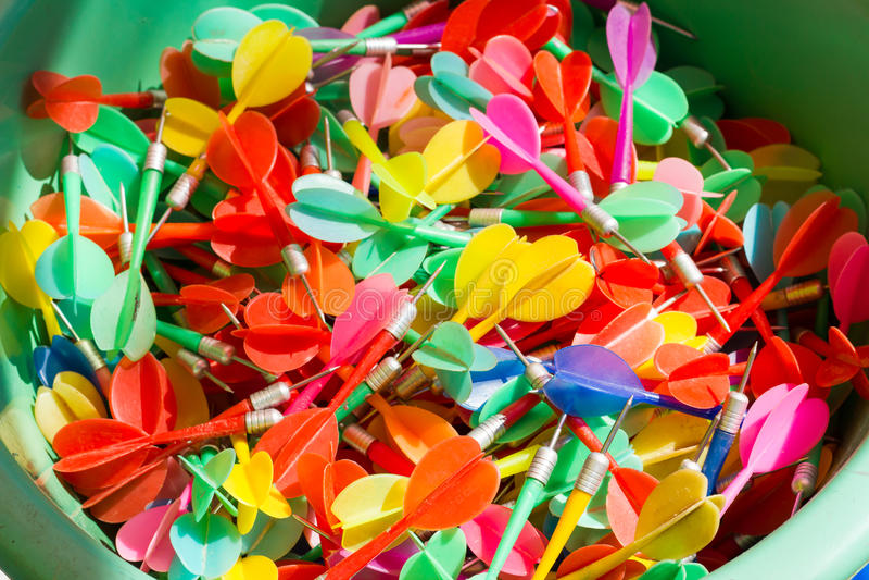 Balloon dart game at a carnival.  royalty free stock image