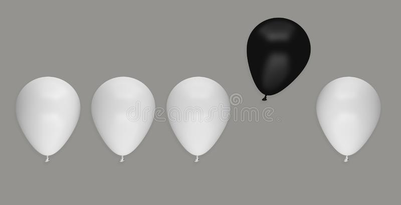 Balloon different business idea leadership unique stock illustration