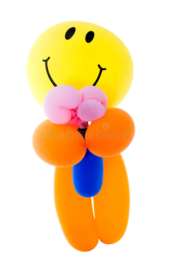 Download Balloon Fantacy Men Bouquet Flower On White Background Stock Photo - Image of cute, magic: 31029068