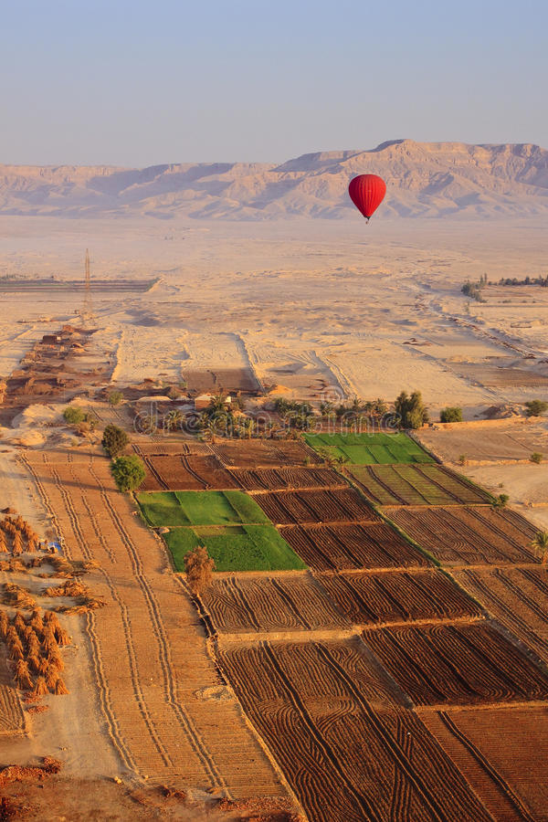 Balloon Filght At Valley Of The Kings Stock Photos