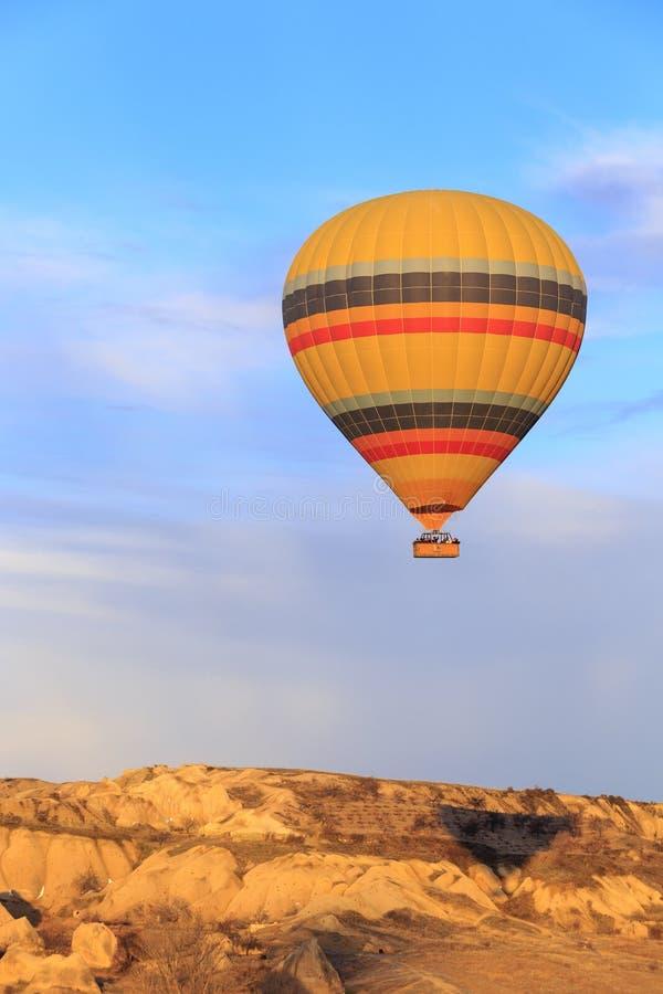 Balloon fly over Cappadocia, Turkey royalty free stock photos