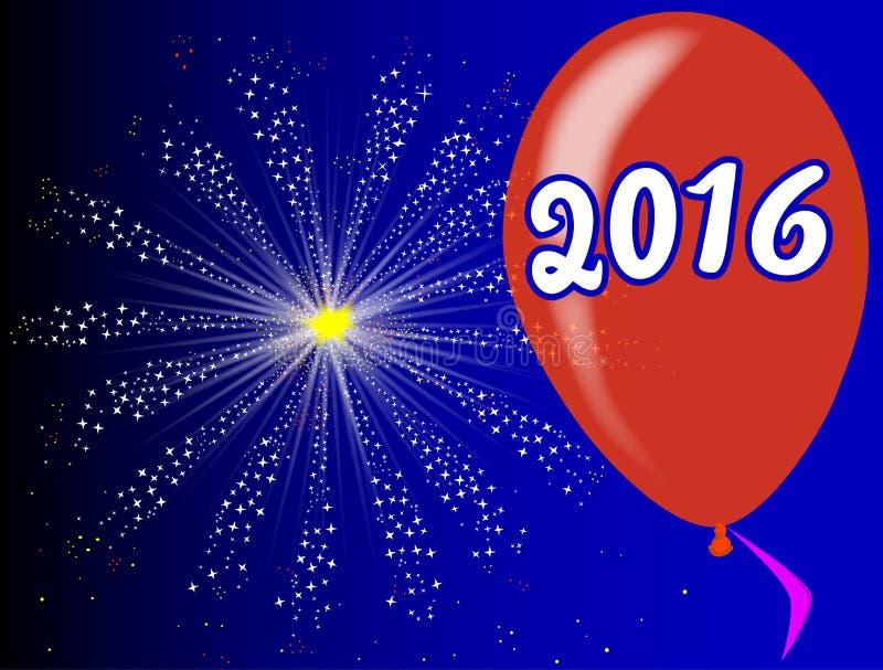 2016 Balloon royalty free illustration