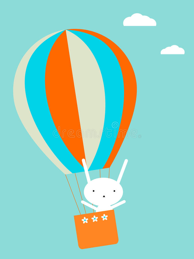 Download Balloon flying stock vector. Image of hare, birthday - 13085346