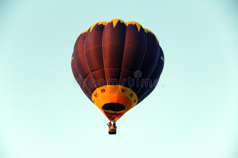 Balloon flying in the sky stock images