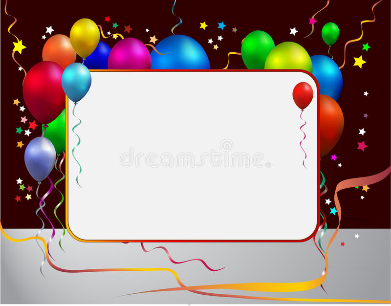 balloon with frame vector illustration