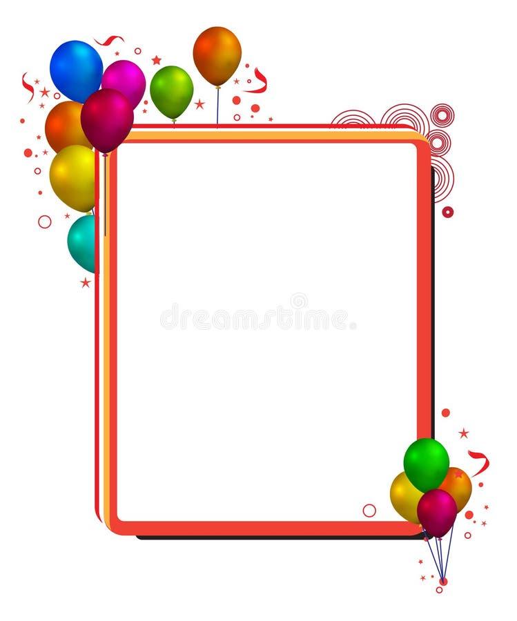 Balloon frame stock illustration