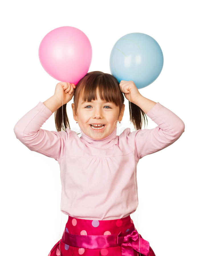 Balloon girl stock photo