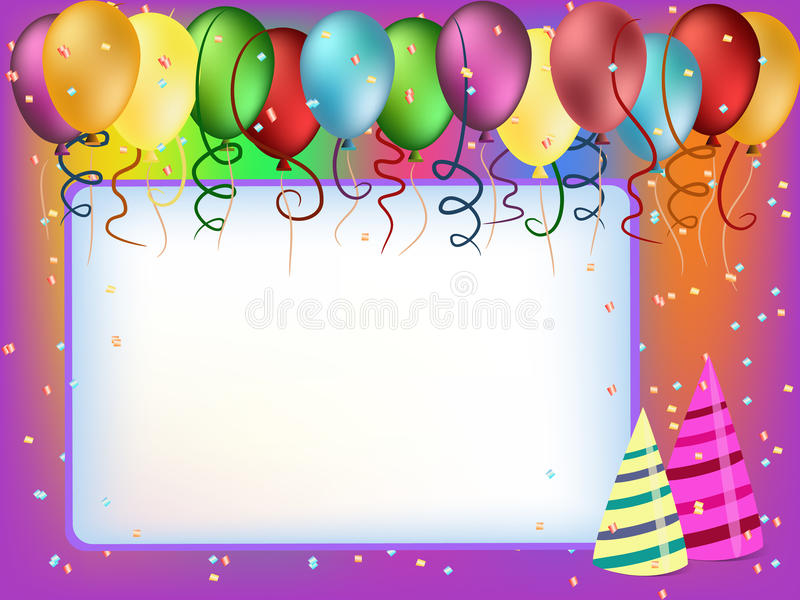 Balloon greeting card royalty free stock photo