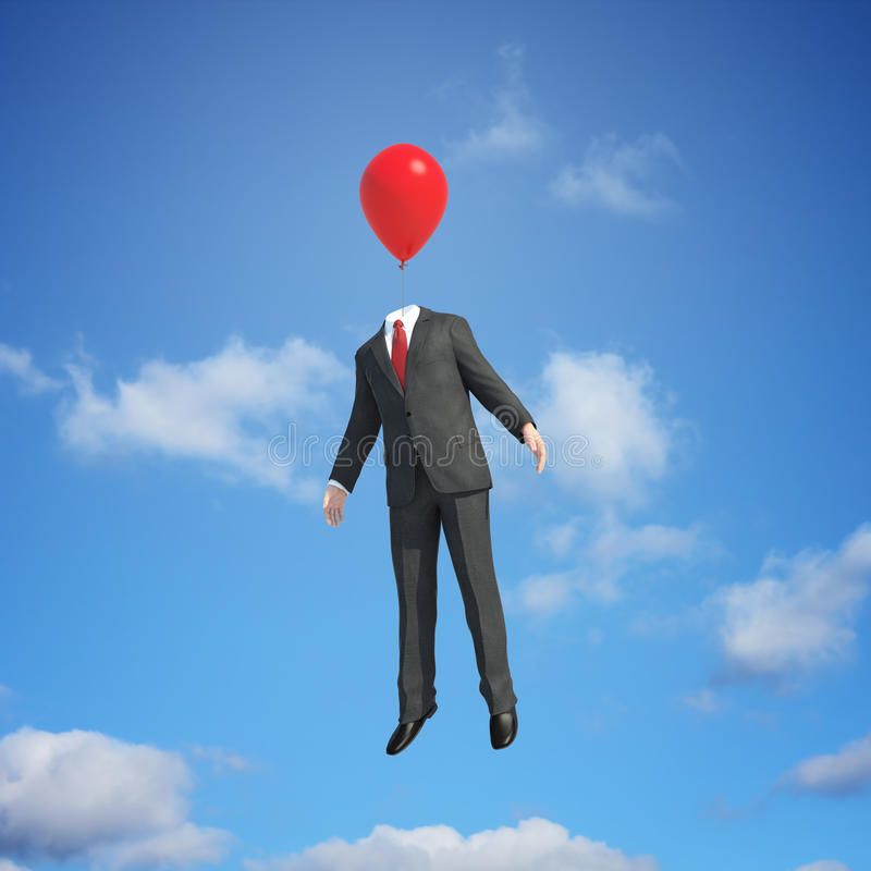 Download Balloon head flying stock photo. Image of freedom, opportunity - 24075382