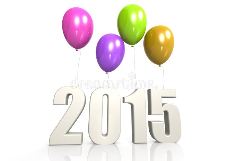 Download 2015 with balloon stock illustration. Illustration of isolated - 32289800