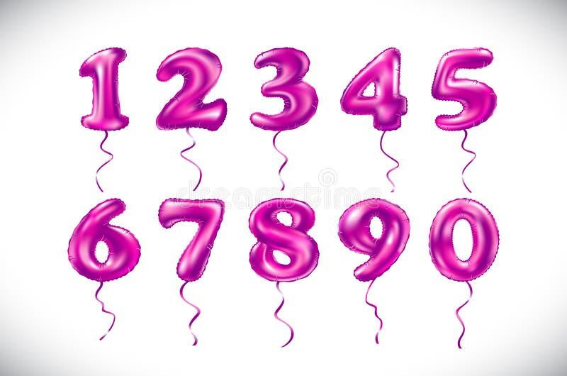 Balloon il numero 1 che 2 3 4 5 6 7 8 9 0 hanno fatto di - Colore per numero stampabili ...