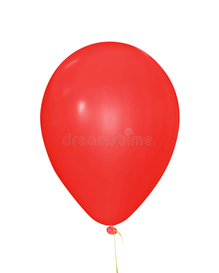 Balloon isolated - red stock photography