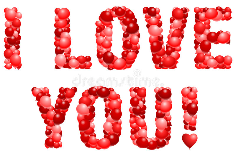 Download Balloon love statement stock vector. Image of sweetest - 7852914
