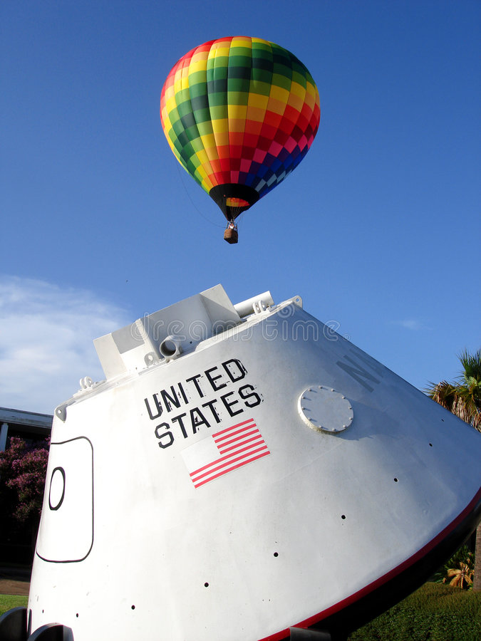 Balloon and NASA Capsule stock image