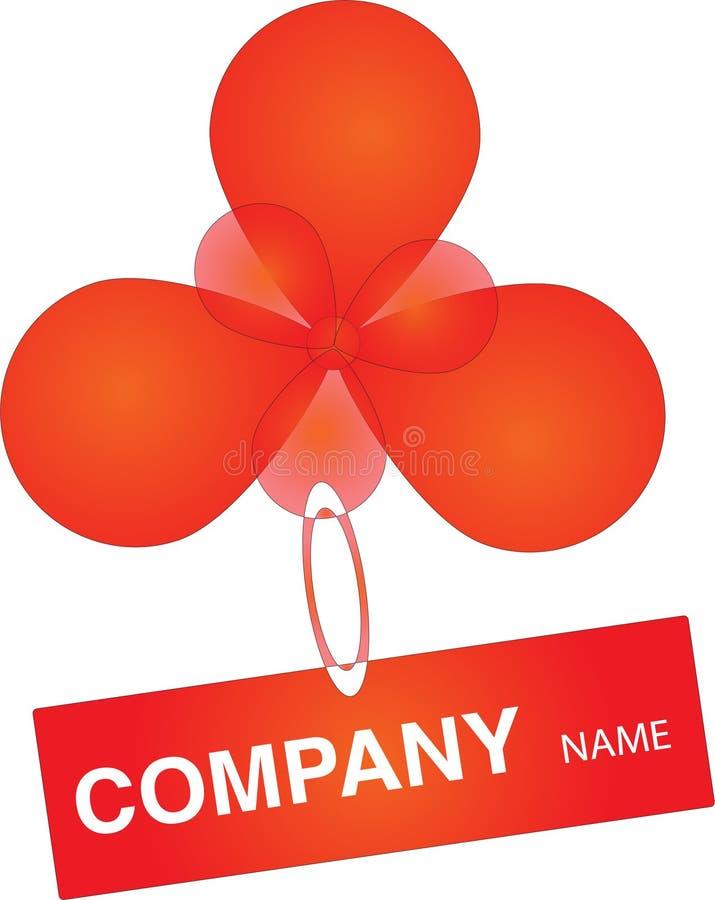 Balloon o logotipo ilustração stock