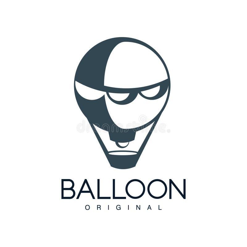 Balloon o original, elemento do projeto para a identidade de marca incorporada, férias de verão, festival, curso, vetor do turism ilustração stock