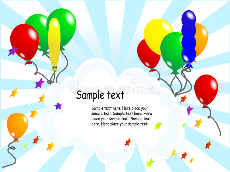 Balloon party background royalty free illustration