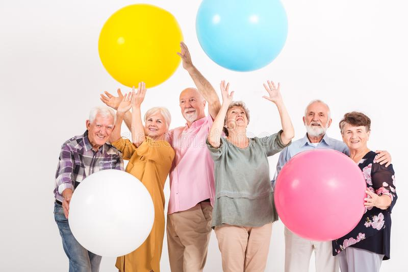 Balloon party stock image