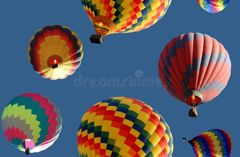 Balloon pattern. Seamless repeating pattern of hot air balloons royalty free stock image